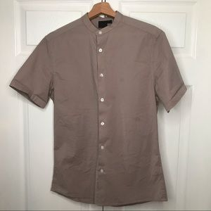 ASOS grandad collar shirt sleeve shirt size S